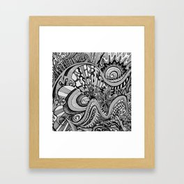 White Knuckled Scream Framed Art Print