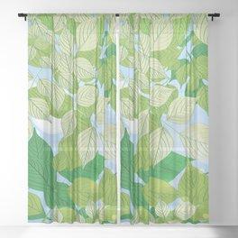 Leaves 4 Sheer Curtain