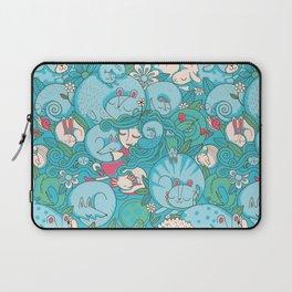 Sleepy Animal Forest Laptop Sleeve