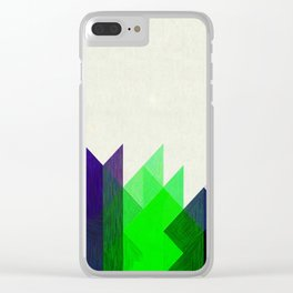 Green Peaks Clear iPhone Case