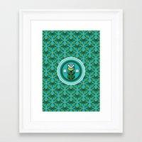 8bit Framed Art Prints featuring 8bit Deco by Bubblegun