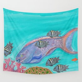 Parrot Fish Wall Tapestry