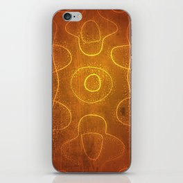 Chladni Pattern - Yellow by Spencer Gee iPhone Skin