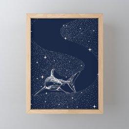 Starry Shark Framed Mini Art Print