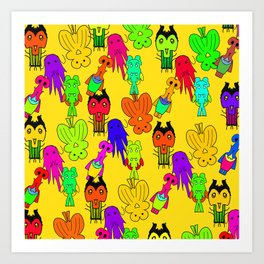 Yellow Clown Art Print
