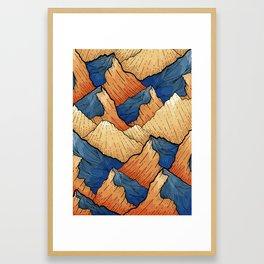 The Sea Peak Pattern Framed Art Print