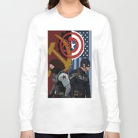 the winter soldier Long Sleeve T-shirts featuring Winter Soldier by Evan Tapper
