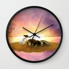 Here We Are Loved Wall Clock