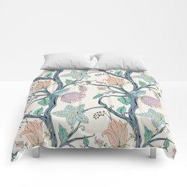 botanical pastel Comforters