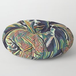 Pablo Escobar Artistic Illustration Picasso Style Floor Pillow