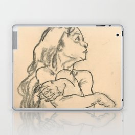 """Egon Schiele """"Seated Nude Girl Clasping Her Left Knee"""" Laptop & iPad Skin"""
