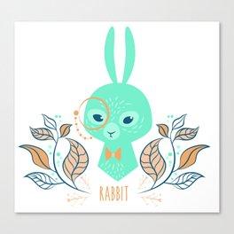 Scandi Rabbit Canvas Print