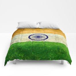 National flag of India - Vintage version Comforters
