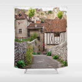 Wandering through Saint Cirq Lapopie Shower Curtain