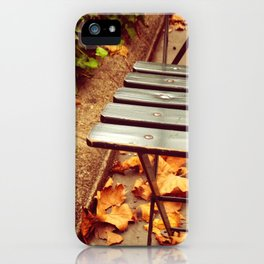 bryant park cafe chair iPhone Case