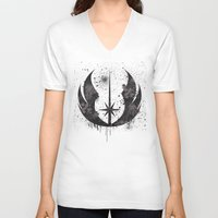 jedi V-neck T-shirts featuring Jedi mark by Ainy A.