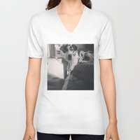 great dane V-neck T-shirts featuring Great Dane by aubreyplays
