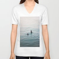 suits V-neck T-shirts featuring the suits by KNIVESINMYEYES