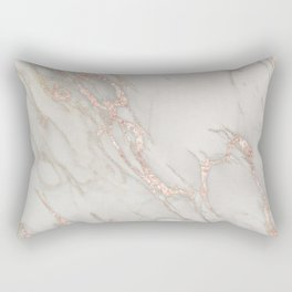 Marble Rose Gold Blush Pink Metallic by Nature Magick Rectangular Pillow