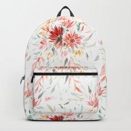 Trailing Autumnal Floral Pattern Backpack