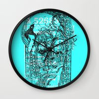 swan Wall Clocks featuring Swan by Tshirt-Factory