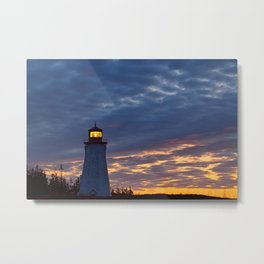 Seacow Head Twilight Metal Print