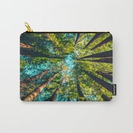 Looking Up At Trees In A Dense Forest Carry-All Pouch