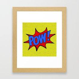 Pow! Framed Art Print