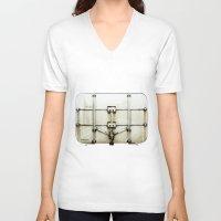 metal V-neck T-shirts featuring metal by alina vasile