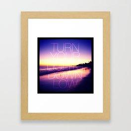 Lights out Framed Art Print