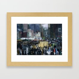 New York 1911 Mean Streets by George Bellows Framed Art Print
