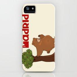 MADRID: Bear and Madrono (v.2) iPhone Case