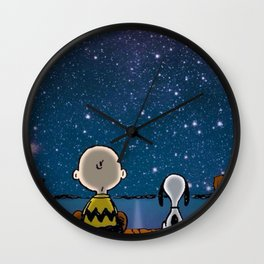 snoopy night Wall Clock