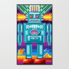 Pixel Robot Canvas Print