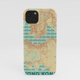 Hong Kong Map Retro iPhone Case