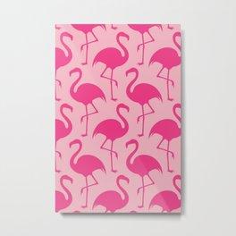 Barbie Flamingoes Metal Print