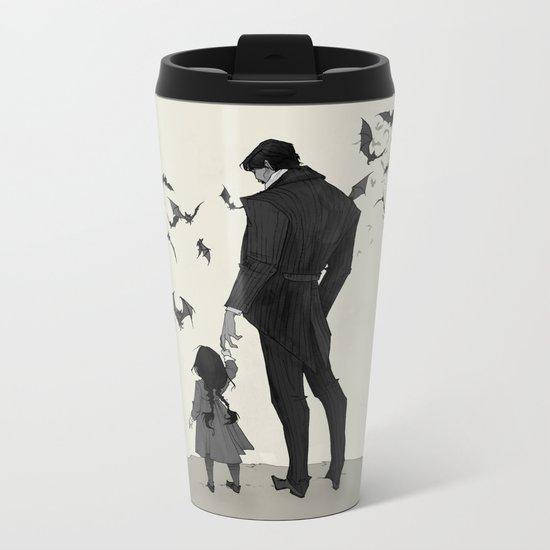 Father Daughter Time Metal Travel Mug