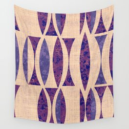 Seventies violet Pattern Wall Tapestry
