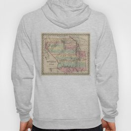 Vintage Map of New Mexico and Utah (1857) Hoody