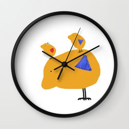 Sunny Family Father and kids Wall Clock