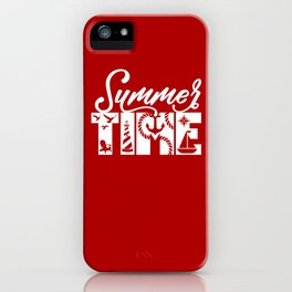 Summer TIME Nautical Solid Red, Seagull, Lounge Chair, Lighthouse, Anchor, Rope, Compass, Sail Boat iPhone Case