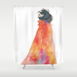 The Girl with the starry mantle Shower Curtain