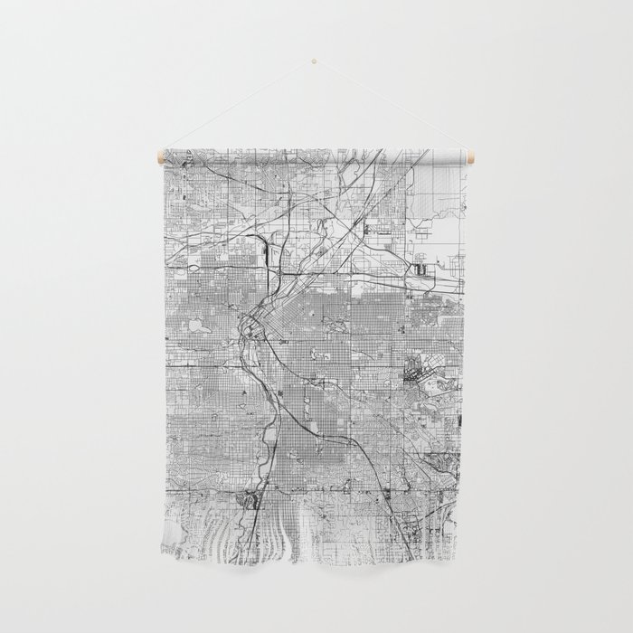 Denver White Map Wall Hanging