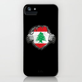 Lebanon Flag Proud Support Beirut iPhone Case