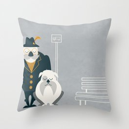Mr. Mustachio Throw Pillow