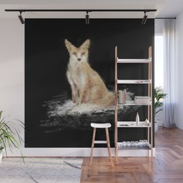 The Lonely Fox Wall Mural