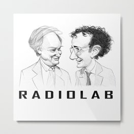 RadioLab with Robert and Jad Metal Print