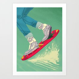 Back 2 The Future Art Print