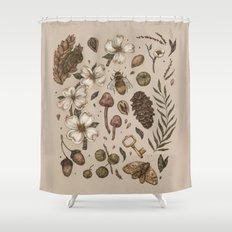 Nature Walks (Light Background) Shower Curtain