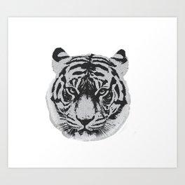 Tigerhead Art Print